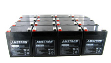 A group of sealed lead acid batteries